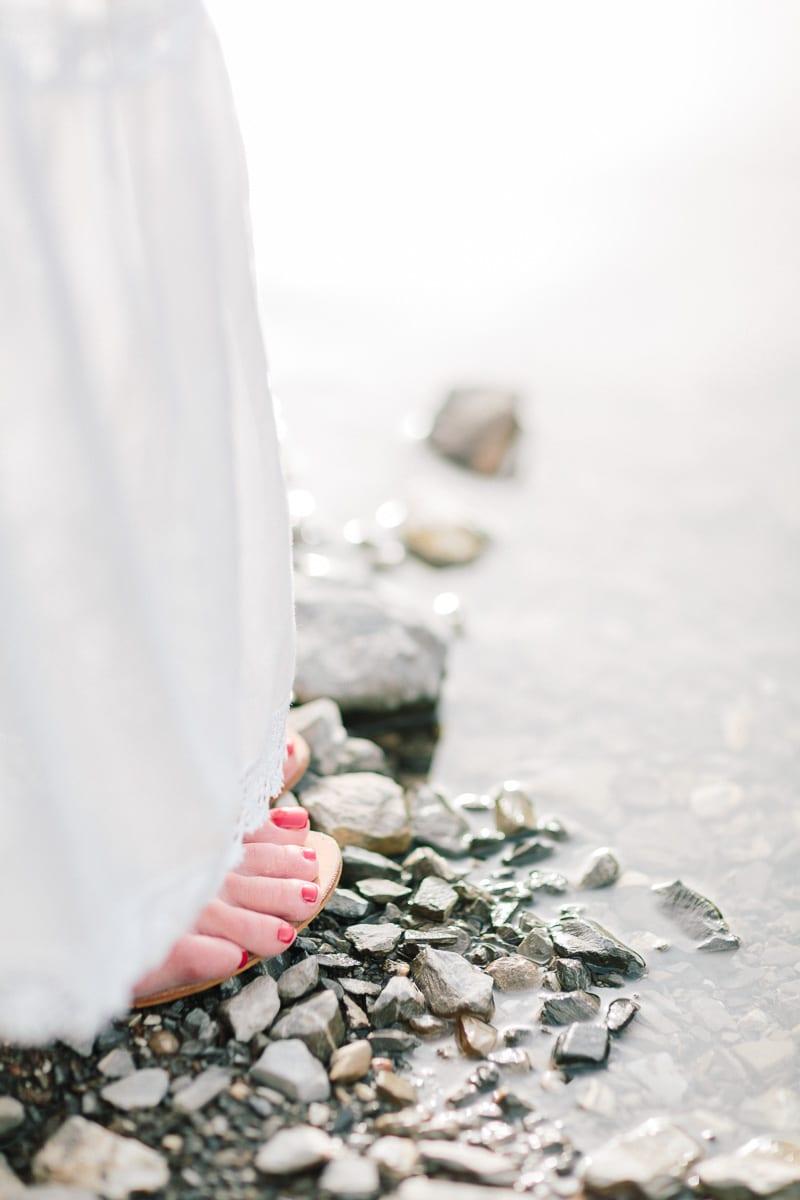 Séance photo grossesse détail des pieds