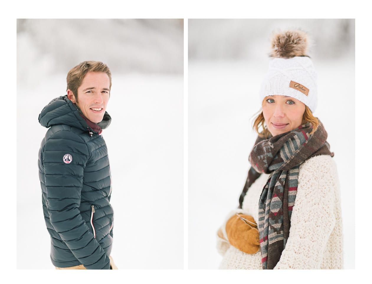 photo de portrait à Morzine en hiver dans la neige
