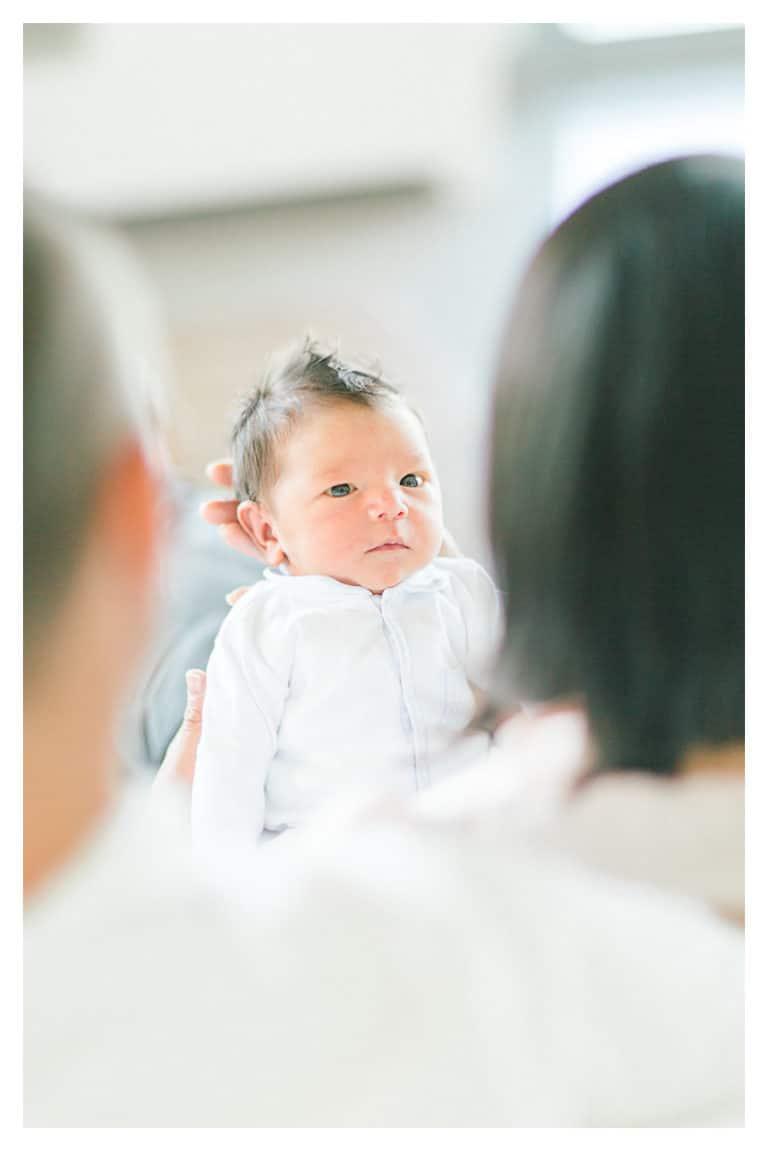 photo d'un bébé après la naissance à Annecy