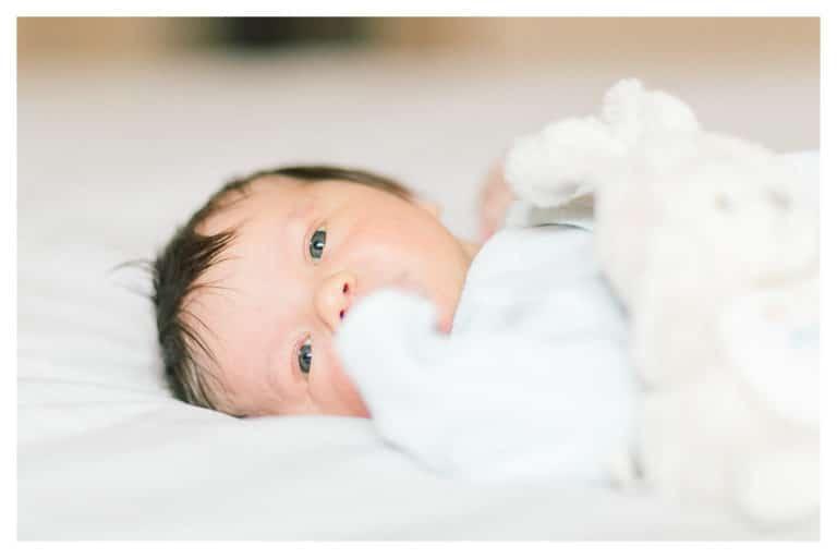 photo d'un bébé après la naissance à Aix les Bains