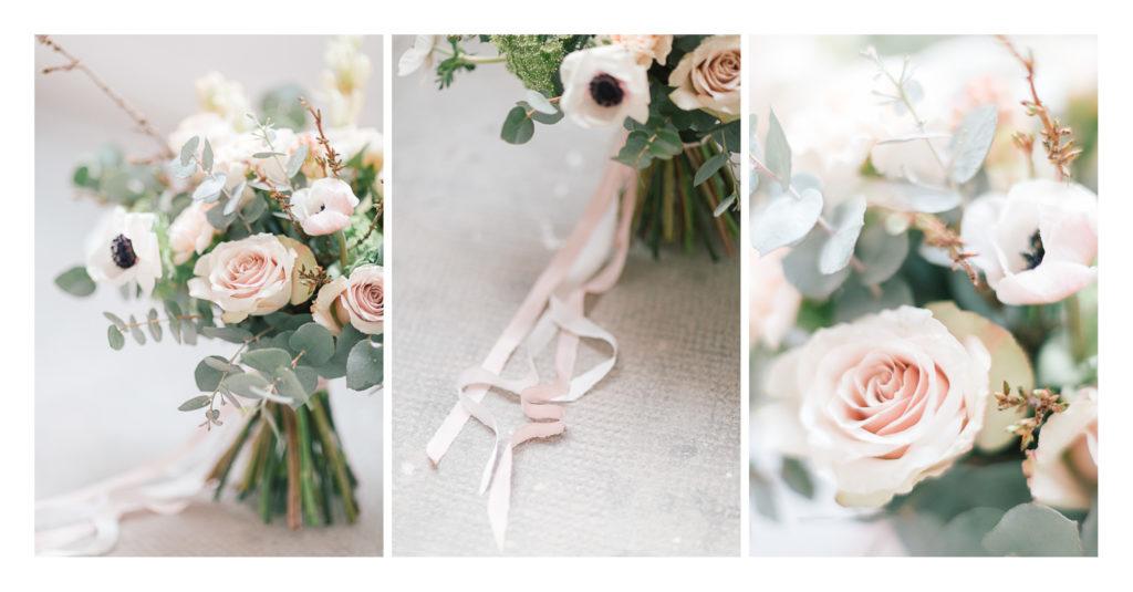 Photo des fleurs du bouquet du mariage