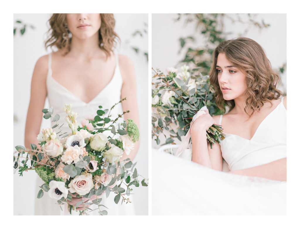 Photo de la mariée et de son bouquet
