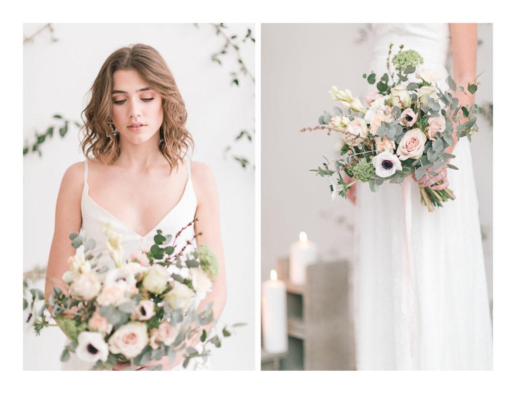 Photo de la mariée Ilona Gachet qui tient son bouquet