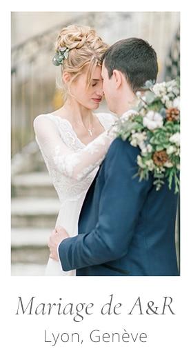 photo de mariage, shooting séance portrait couple avec la mariée, son bouquet et le marié