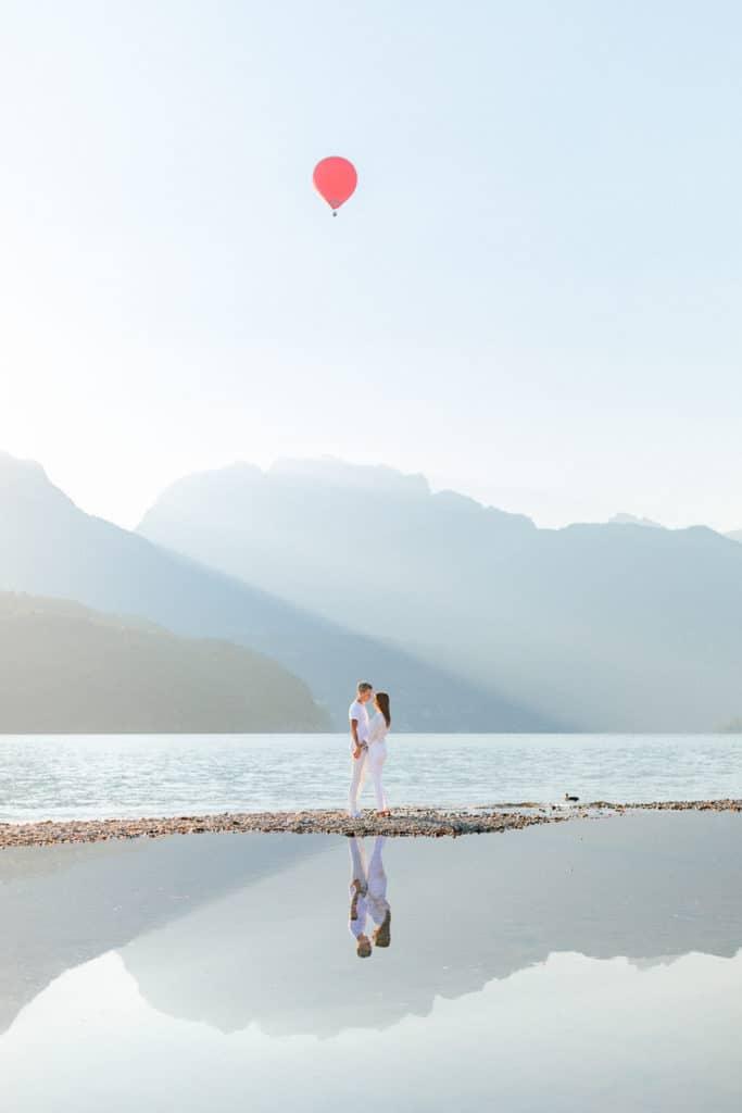 photographe couple lac annecy julien bonjour